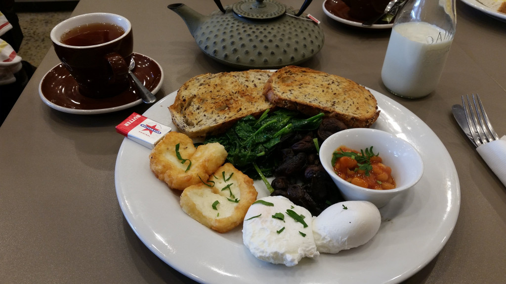 Organic Vegetarian breakfast - Maples Putney