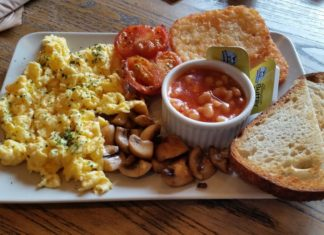 Espressimo Cafe Vegetarian Breakfast