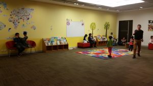 Kids Section with Mat. This section can be closed off for rhyme time. Chatswood Library