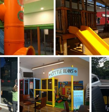 free play areas and playgrounds with cafes nearby