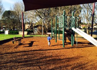 open playgrounds with cafes nearby