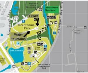 Bicentennial Park Map With Markings