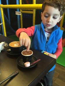 Babycino at the coffee playground