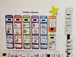 Weekly Activity Calendar for Preschoolers