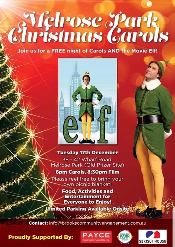 Melrose Park Christmas Carols and Movie
