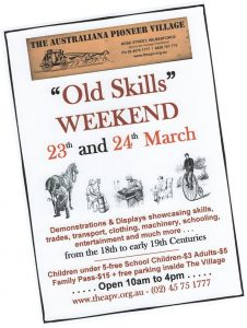 Old Skills Weekend | Australiana Pioneer Village @ Australiana Pioneer Village | Wilberforce | New South Wales | Australia