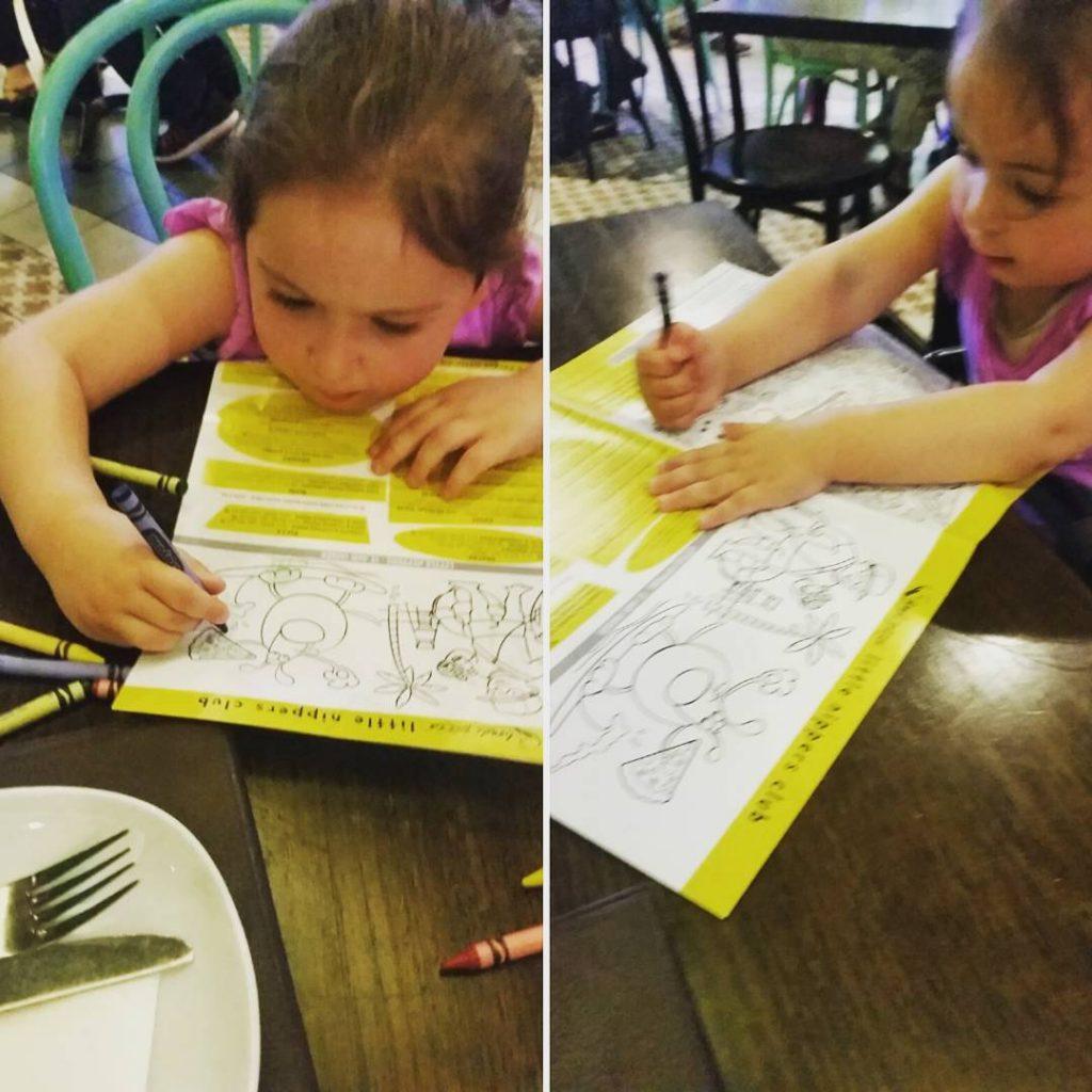 Bondi Pizza menu/colouring in