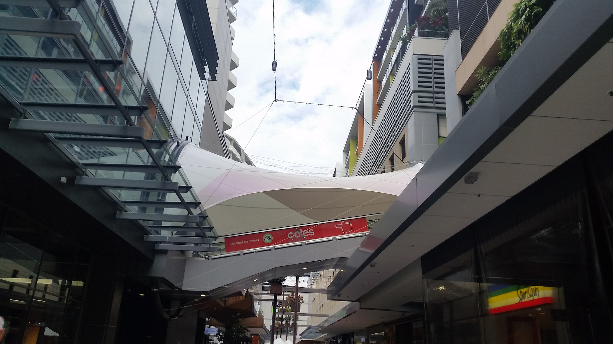 Rainbow Escalator connecting the Mezza Parking floor to Level 1 at Top Ryde City