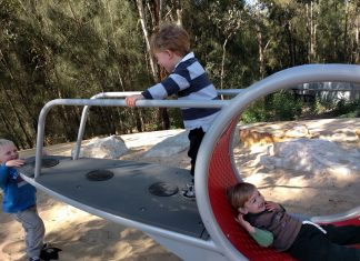 Parramatta Park domain creek playground