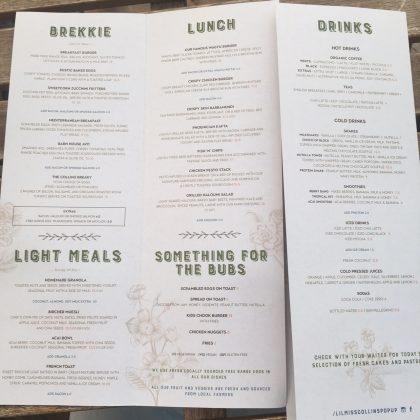 Lil Miss Collins menu