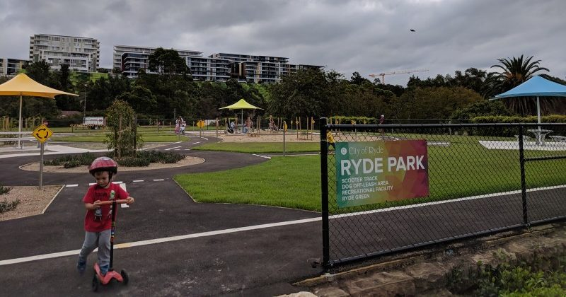 Ryde Park scooter track