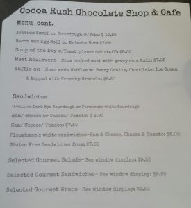 Cocoa Rush Chocolate Shop & Cafe