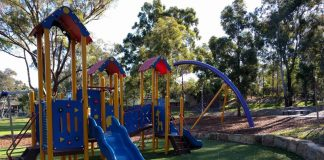 northmead reserve playground for toddlers preschoolers nature crawler best swings