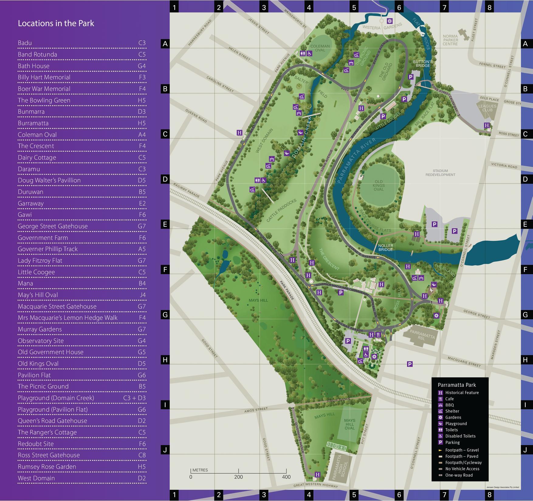 Wistaria Gardens Parramatta Park Map