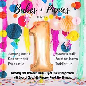 Babes and Picnics' First Birthday Party | NBC Sports Club, Northmead @ NBC Sports Club, Northmead | Northmead | New South Wales | Australia