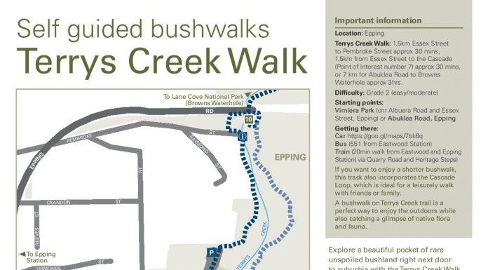 Terrys Creek Walk Epping Eastwood