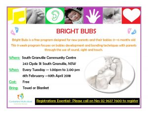 Bright Bubs Playgroup (0-6months) | South Granville @ South Granville Community Centre | South Granville | New South Wales | Australia