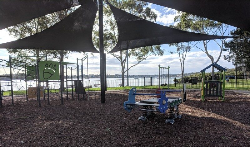 Playgrounds along parramatta river