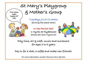 St Mary's Parish Playgroup | Rydalmere @ St Mary's Parish | Rydalmere | New South Wales | Australia
