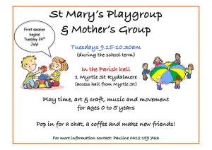 St Mary's Parish Playgroup | Rydalmere @ St Mary's Parish | Rydalmere | New South Wales | Australia
