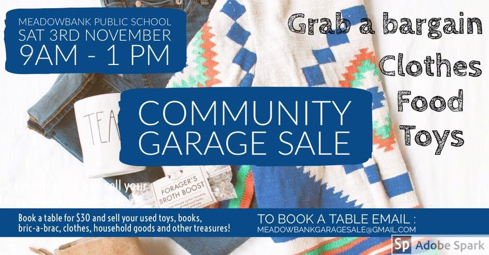Community Garage Sale | Meadowbank Public School | ParraParents