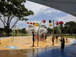 Curry Reserve water playground camden
