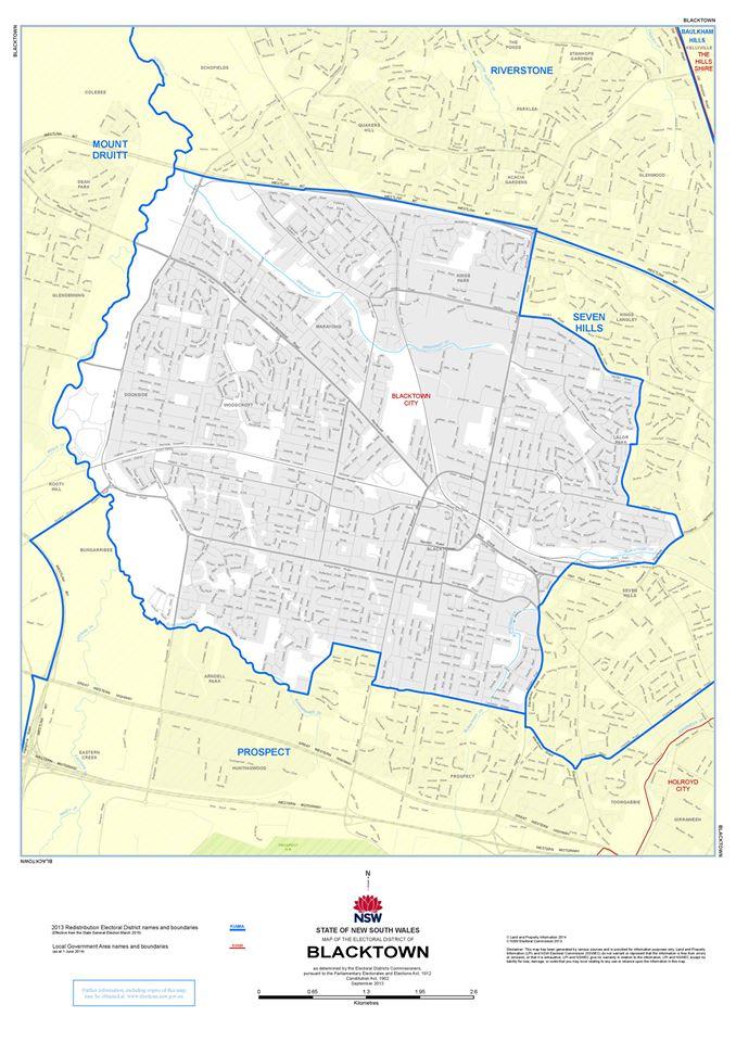 Blacktown Electorate Map