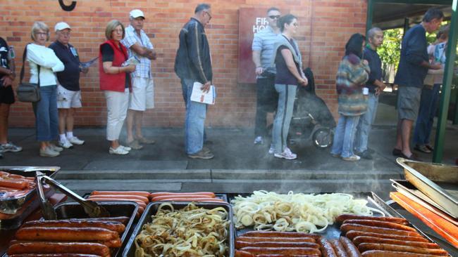 Election sausage sizzle