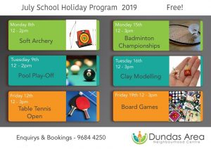 School Holiday Activities | Dundas Neighbourhood Centre @ Dundas Neighbourhood Centre | Telopea | New South Wales | Australia