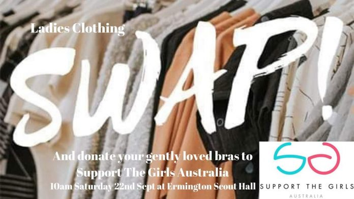 Spring Clothing Swap & Bra Drop for Support the Girls Australia