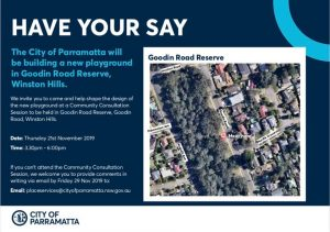 Have Your Say - Goodin Road Reserve | Winston Hills @ Goodin Road Reserve | Winston Hills | New South Wales | Australia