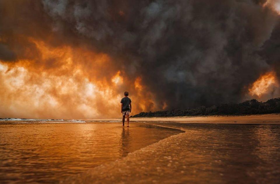 Bushfires North Coast Martin Von Stoll at Black Head