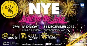 NYE Light Up the Lake | Liverpool @ Grand Flaneur Beach, Chipping Norton | Chipping Norton | New South Wales | Australia