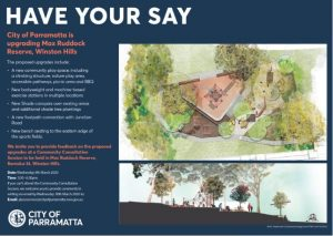 Max Ruddock Reserve Upgrade - Community Consultation | Winston Hills @ Max Ruddock Reserve | Winston Hills | New South Wales | Australia