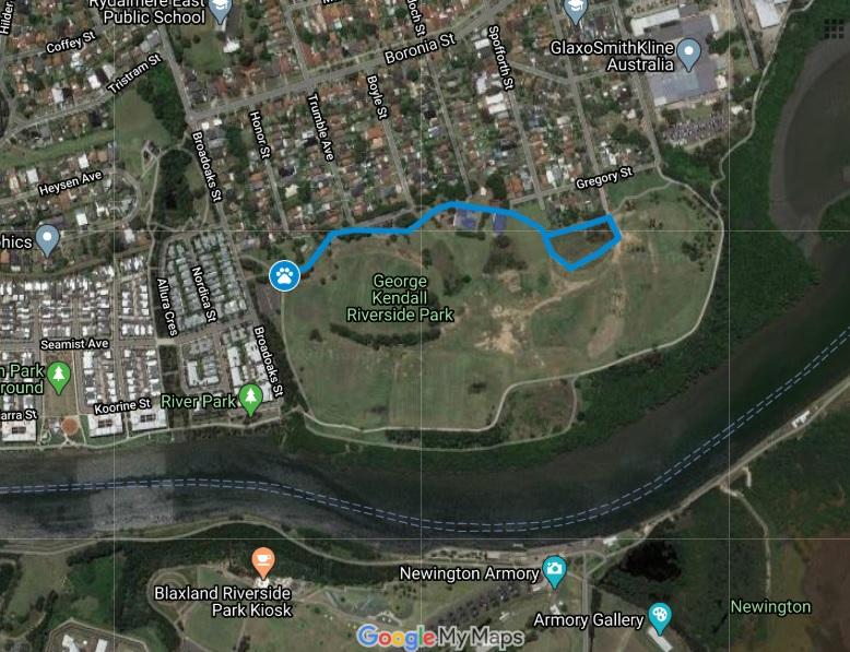 walking trail bluey map George Kendall Riverside Park