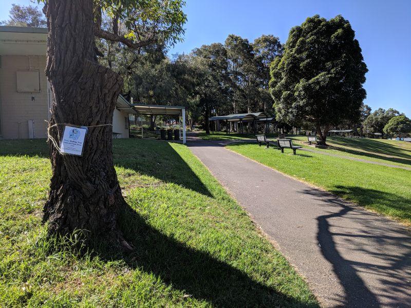Bluey walking trail George Kendall Riverside Park