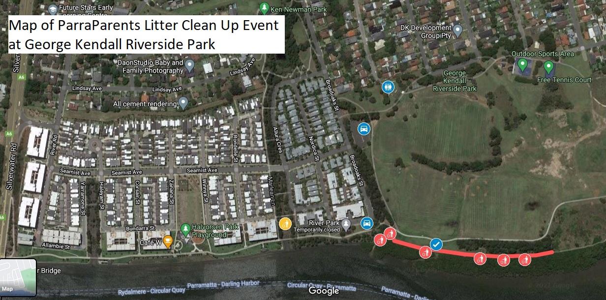 Clean Up Australia Litter George Kendall Riverside Park