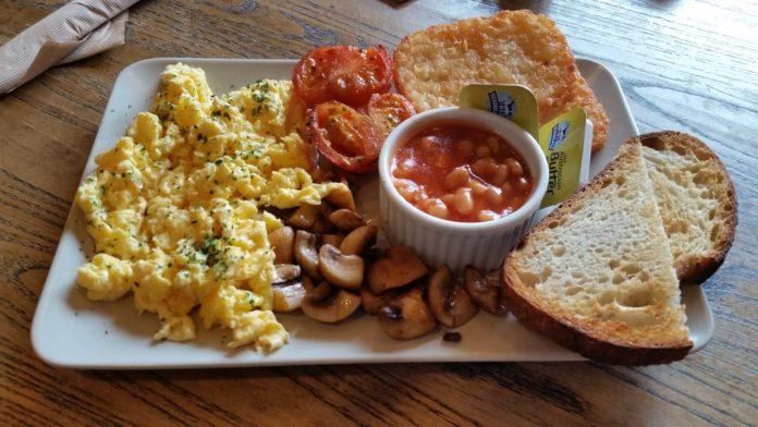 Espressimo Cafe Vegetarian Breakfast