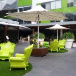 Green Chairs found throughout the Piazza and La Strada sections of Top Ryde City on Ground Floor