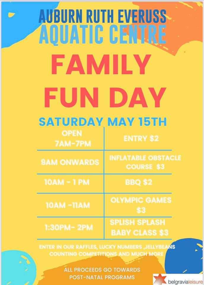 Family Open Day Ruth Everuss Aquatic Centre, Lidcombe