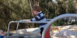 Parramatta Park domain creek playground
