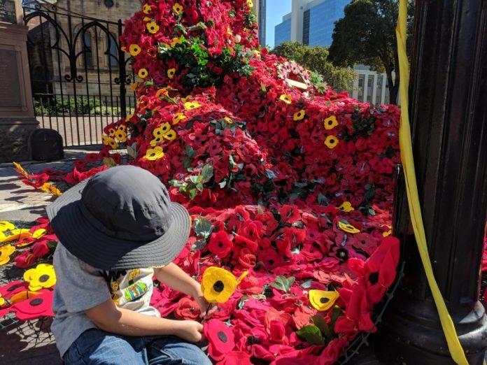 Poppy Making - ANZAC themed craft Parramatta Armistice Family Open Day