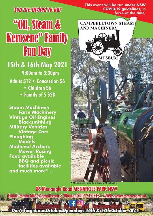 Oil, Steam & Kerosene Family Fun Days
