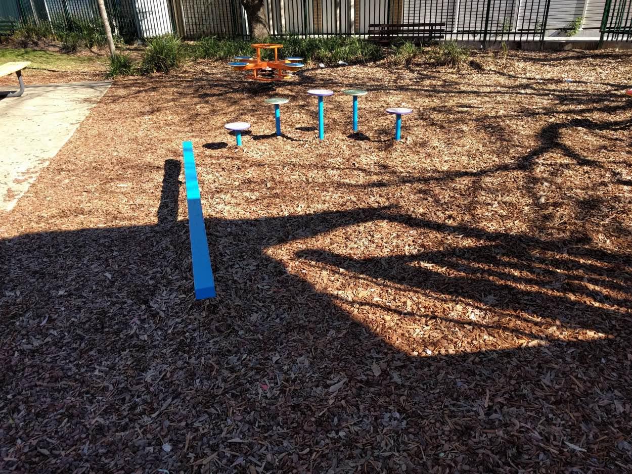 bill thomson reserve parramatta playground near a bus stop victoria road