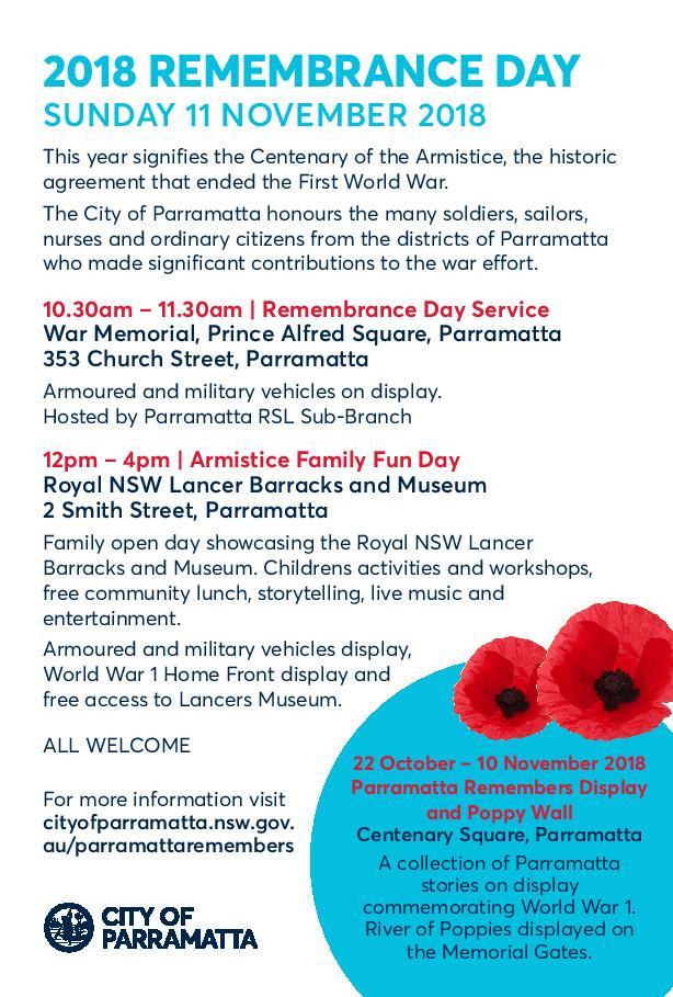 Parramatta Armistice Family Open Day