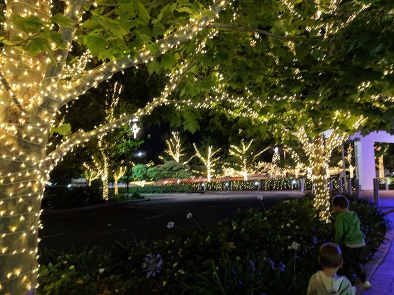 Hillsong Church Christmas lights