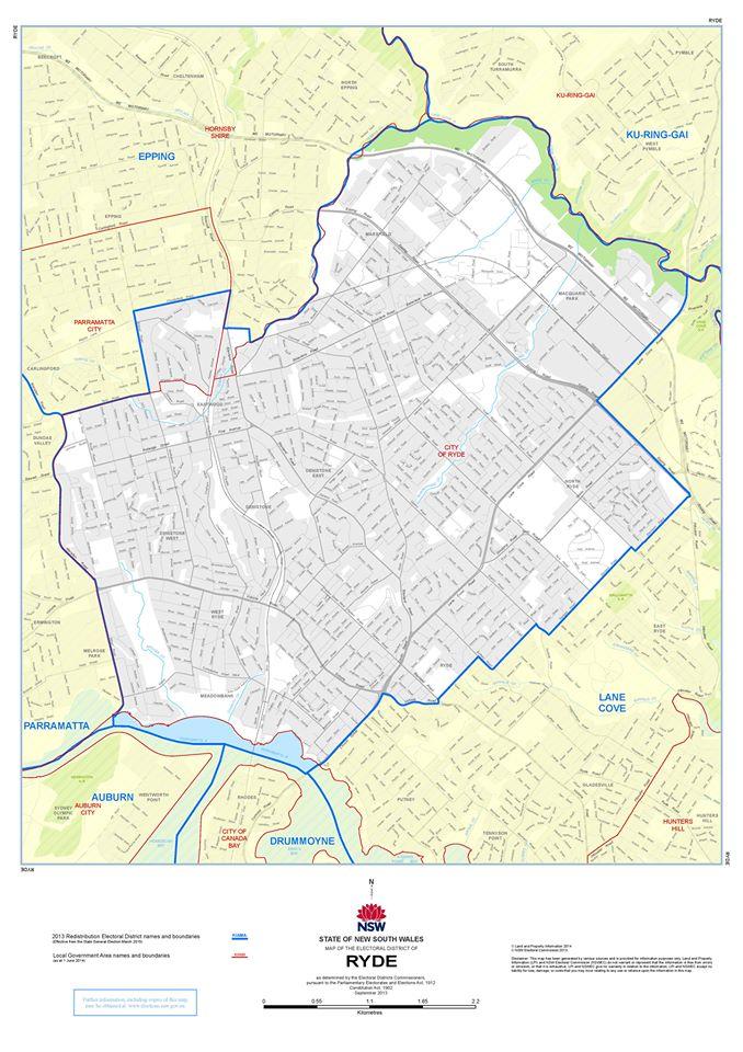 Ryde Electorate Map