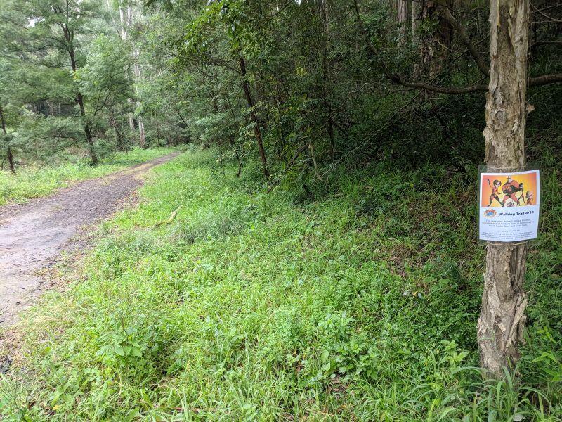 superheroes walking trail bidjigal reserve northmead north rocks dam