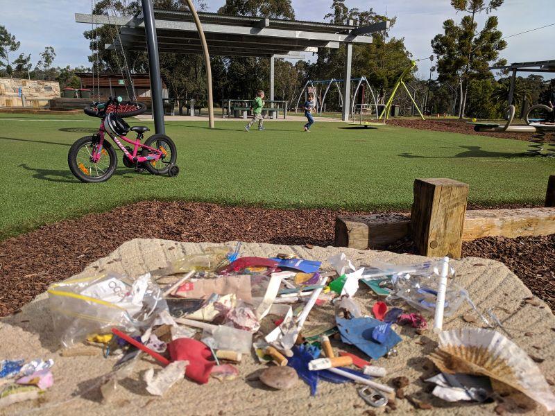 Castle Hill Heritage Park litter